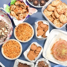 Delicious baked goods at the coffee morning